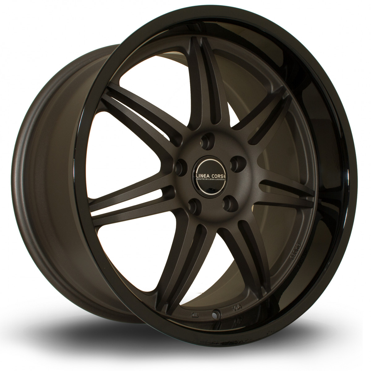 Dyna 19x10 5x120 ET37 Flat Gunmetal with Gloss Black Lip