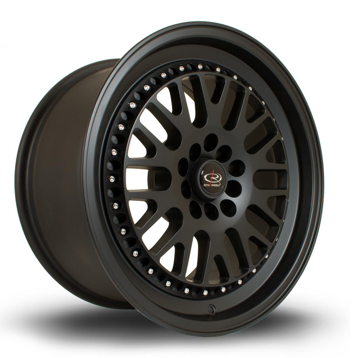 Flush 17x9.5 5x100 ET25 Flat Black