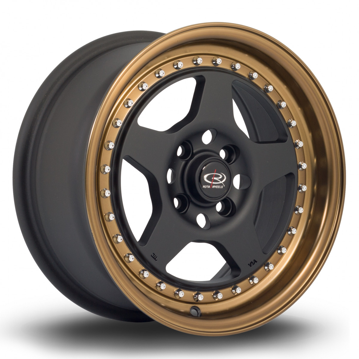 Kyusha 15x7 4x100 ET38 Flat Black with Speed Bronze Lip