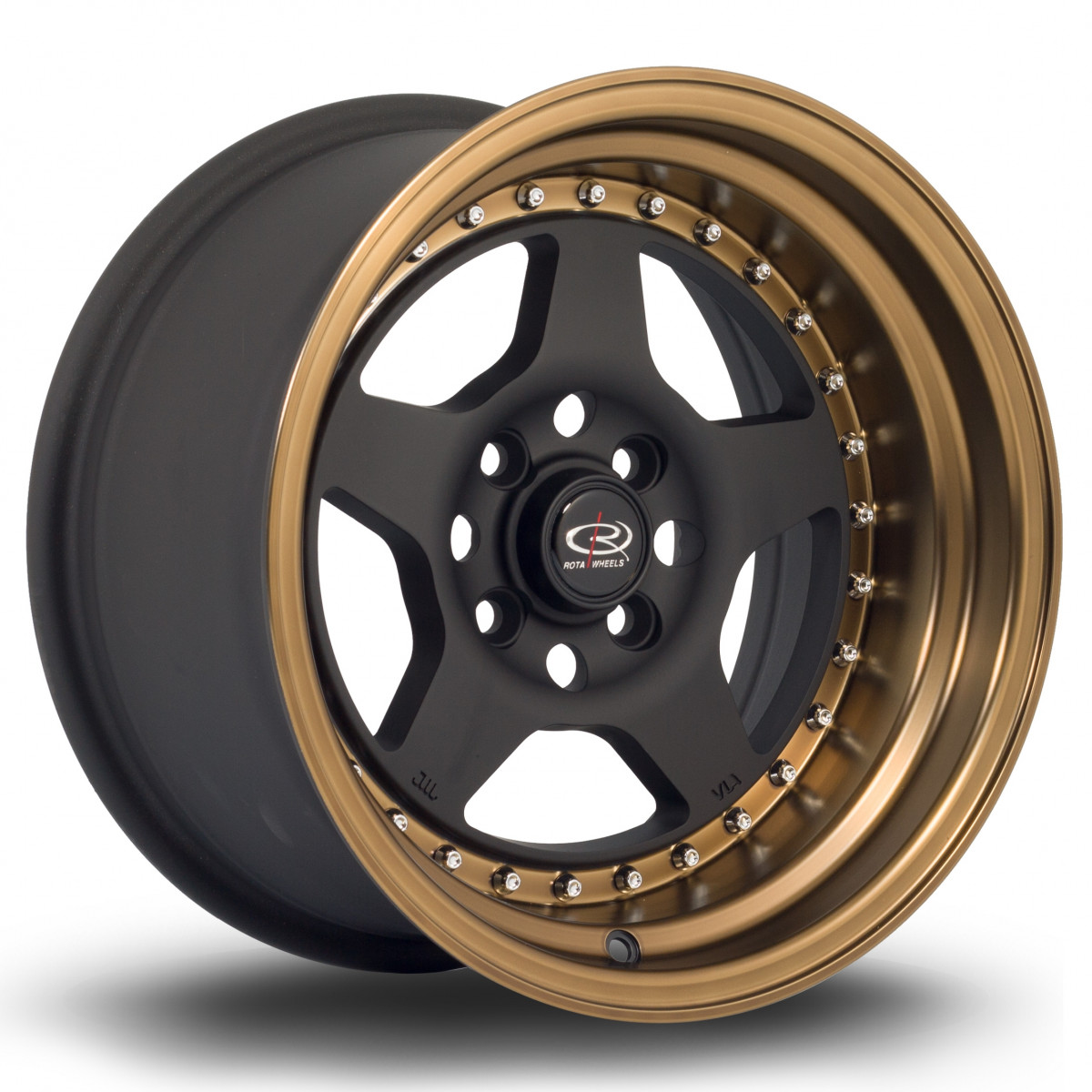 Kyusha 15x8 4x114 ET0 Flat Black with Speed Bronze Lip