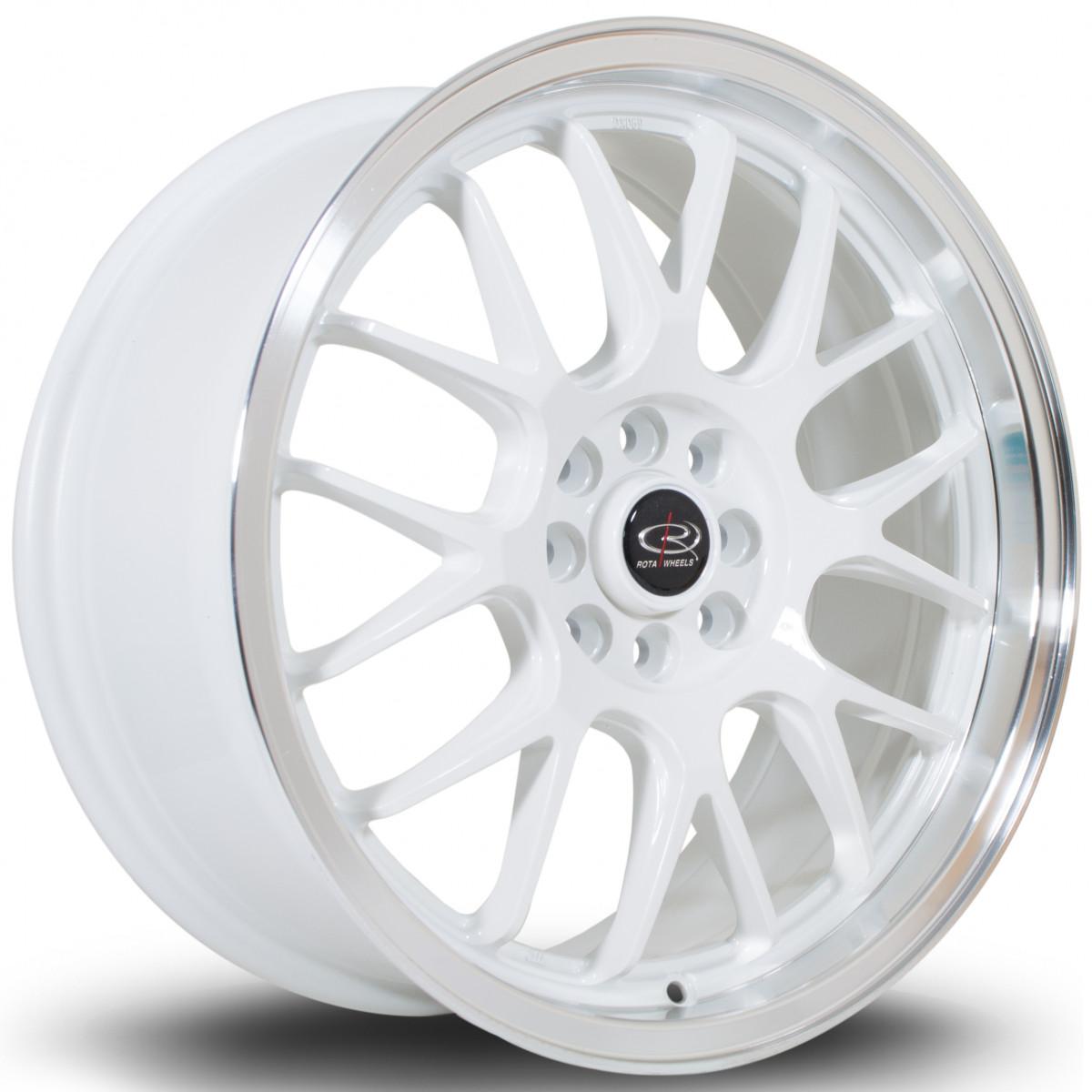 MXR 17x7.5 4x108 ET40 White with Polished Lip