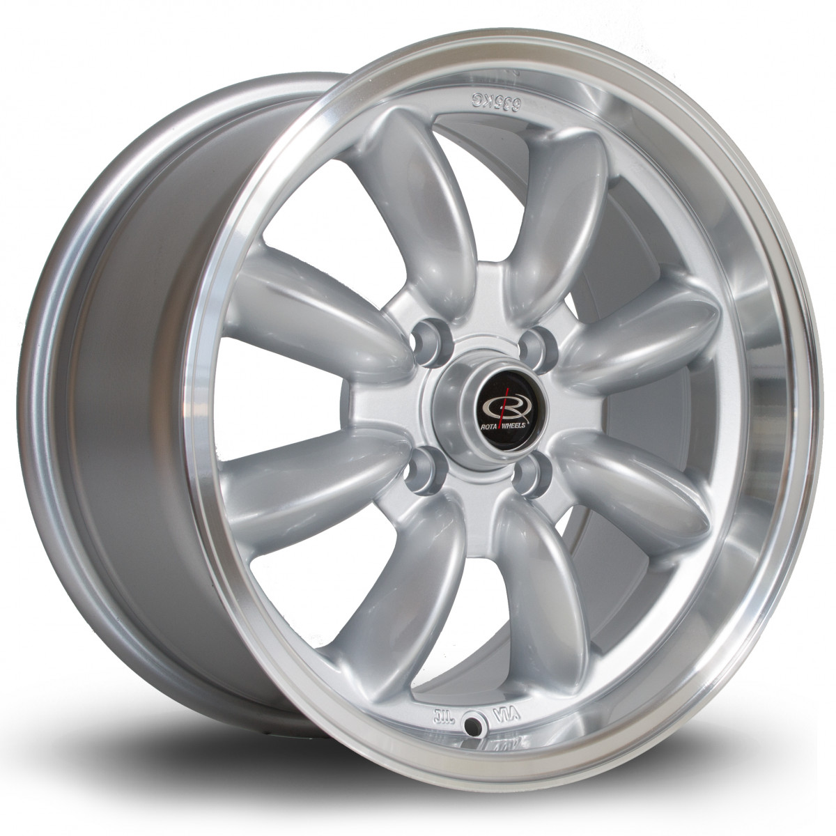 RB 15x7 4x110 ET4 Silver with Polished Lip
