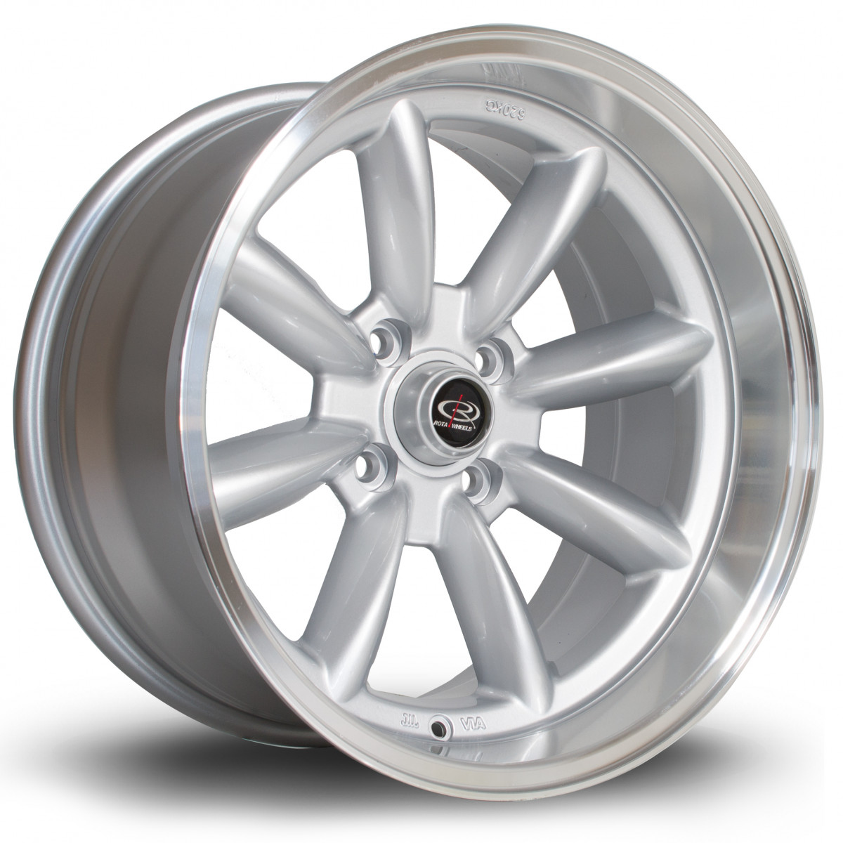 RBX 17x9 4x114 ET-13 Silver with Polished Lip