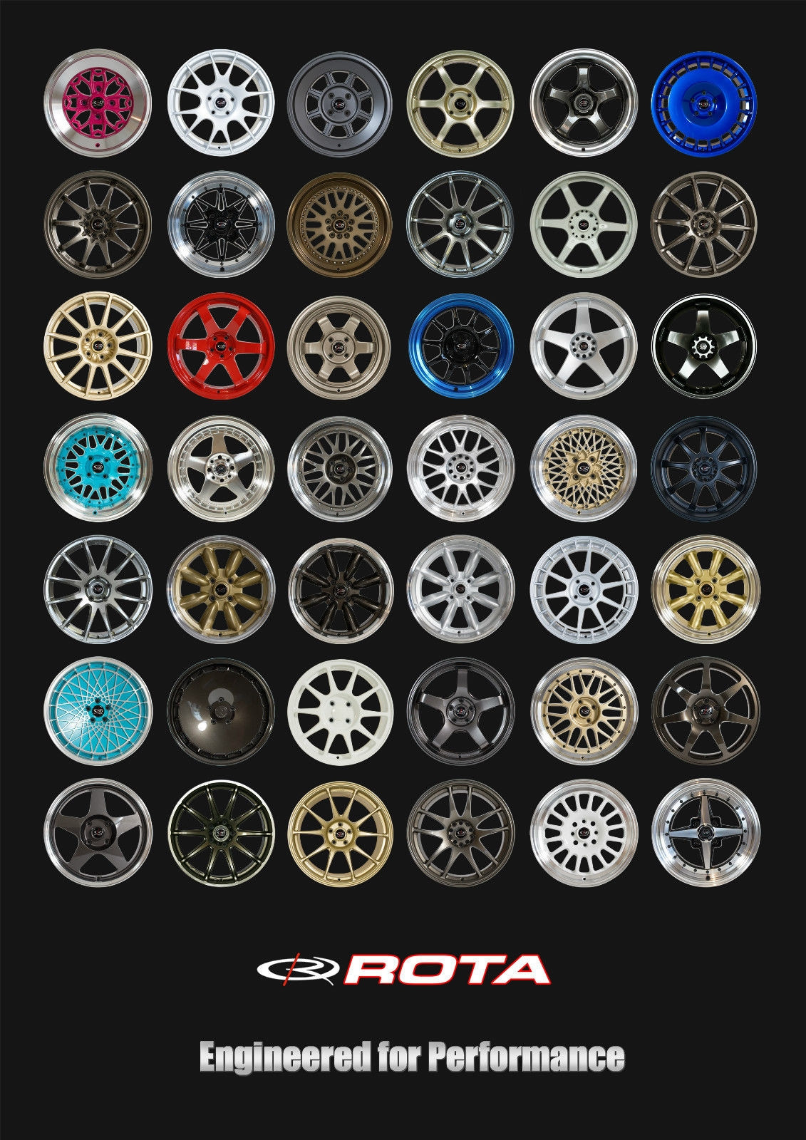 Retro Rota Wheels A1 Poster
