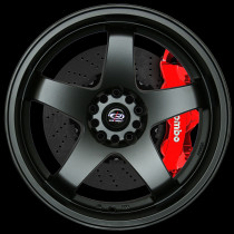 GTR-D 18x10 5x114 ET35 Flat Black