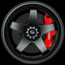 GTR-D 18x10 5x114 ET12 Flat Black