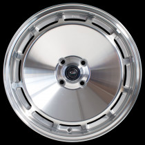 D154 16x8 5x100 ET30 Silver with Polished Face