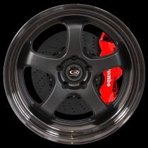 D2EX 18x9.5 5x114 ET12 Flat Black with Gloss Black Lip