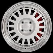 EG6 16x7 4x108 ET35 Silver with Polished Lip