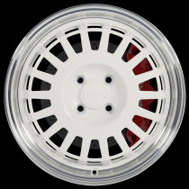 EG6 16x7 4x100 ET35 White with Polished Lip