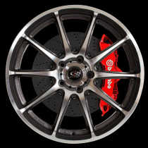 Gra 18x7.5 5x100 ET48 Gunmetal with Polished Face