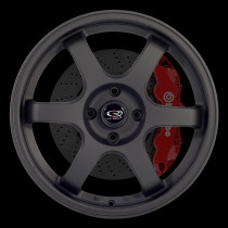 Grid 17x7.5 4x100 ET45 Flat Black 2