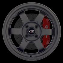 Grid-V 15x7 4x100 ET20 Flat Black 2