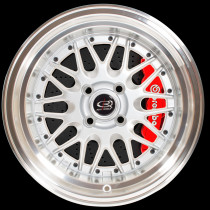 Kensei 15x8 4x114 ET0 Silver with Polished Lip