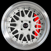 Kensei 15x9 4x100 ET0 White with Polished Lip