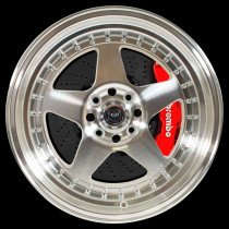 Kyusha 17x9.5 5x120 ET25 Silver with Polished Face