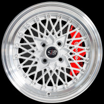 OSMesh 15x8 4x100 ET20 Silver with Polished Lip