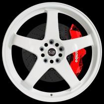 GTR 18x8 5x100 ET48 White
