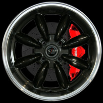 RBR 17x8.5 4x114 ET4 Gunmetal with Polished Lip