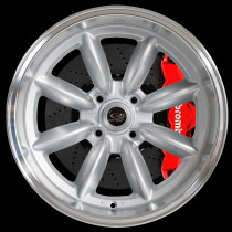 RBX 17x9.5 4x114 ET-19 Silver with Polished Lip