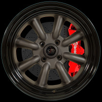 RKR 15x8 4x100 ET0 Flat Gunmetal with Gloss Black Lip