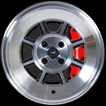 BM8 15x8 4x100 ET0 Gloss Black with Polished Face