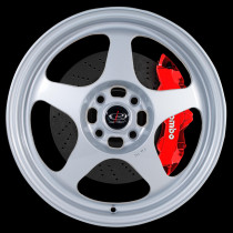 Slipstream 16x7 4x100 ET40 Silver