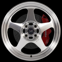 Slipstream 16x7 4x100 ET40 Steel Grey with Polished Face