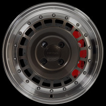 Speciale 15x7 4x100 ET35 Gunmetal with Polished Lip