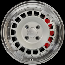 Speciale 15x7 4x100 ET20 Silver with Polished Lip