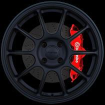 SS10 17x8 4x108 ET42 Flat Black