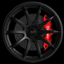 T2R 18x9.5 5x100 ET38 Flat Black