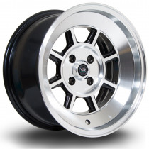 BM8 15x8 4x100 ET10 Gloss Black with Polished Face