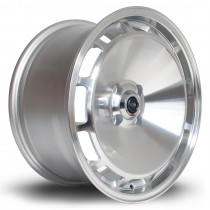D154 16x8 4x100 ET30 Silver with Polished Face