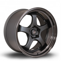 D2EX 18x9.5 5x114 ET12 Flat Black with Gloss Black Lip