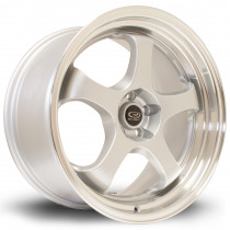 D2EX 18x9.5 5x114 ET12 Silver with Polished Lip