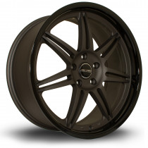 Dyna 19x8.5 5x120 ET30 Flat Gunmetal with Gloss Black Lip