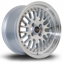 Flush 15x8 4x100 ET20 Silver with Polished Face