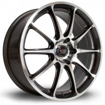 Gra 18x7.5 5x114 ET45 Gunmetal with Polished Face