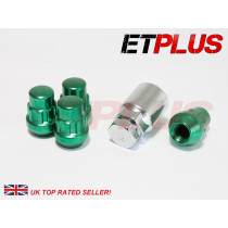 LOCKNUTS, SET4, M12, c/w Key Closed