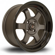Grid-V 15x7 4x100 ET20 Flat Gunmetal with Gloss Black Lip