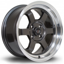 Grid-V 15x7 4x100 ET20 Gunmetal with Polished Lip