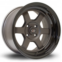 Grid-V 15x8 4x100 ET0 Flat Gunmetal with Gloss Black Lip