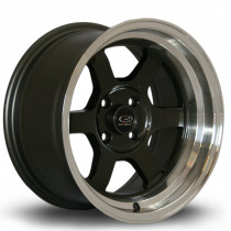 Grid-V 15x8 4x100 ET0 Gunmetal with Polished Lip
