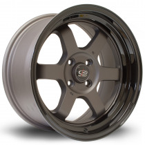 Grid-V 16x8 4x100 ET20 Flat Gunmetal with Gloss Black Lip