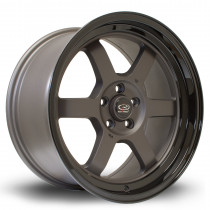 Grid-V 17x9 5x100 ET42 Flat Gunmetal with Gloss Black Lip
