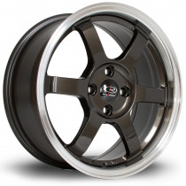 Grid 16x7 4x100 ET40 Gunmetal with Polished Lip