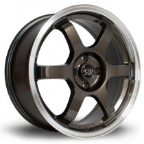 Grid 17x7.5 5x114 ET45 Gunmetal with Polished Lip