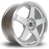 GTR 18x8 5x114 ET48 Silver with Polished Lip