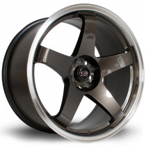 GTR 19x10 5x114 ET20 Gunmetal with Polished Lip